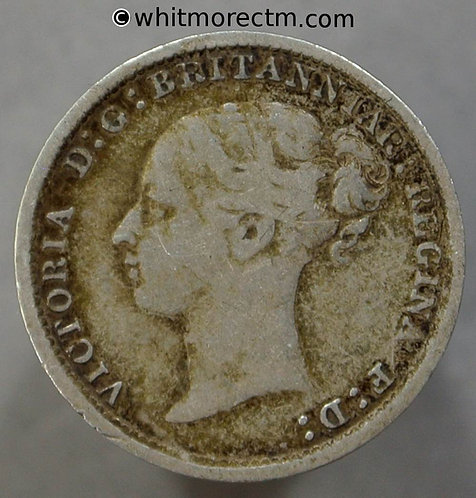 1887 Victoria young Head threepence