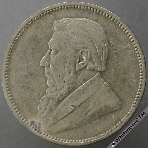 1897 South Africa Kruger 2 Shillings - Y5