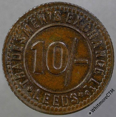 Bonus Token Leeds 19mm Tradesmen's Exchange Ltd 10/- Copper 10% Luster