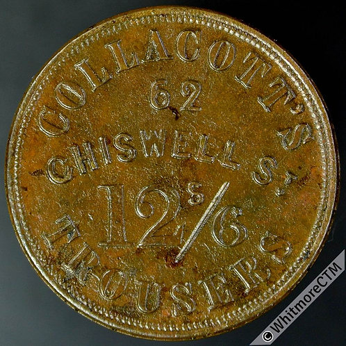 Unofficial Farthing London 2410 Collacotts 62 Chiswell St - Brass. Rare.