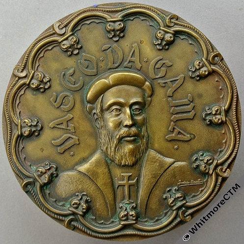 1969 Portugal 500th Anniversary Birth of Vasco da Gama Medal 81mm By Santos
