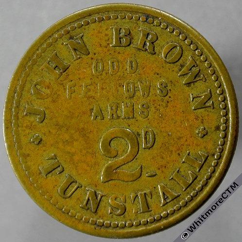 Tunstall Stoke-on-Trent Inn / Pub Token Oddfellows Arms - John Brown W5692