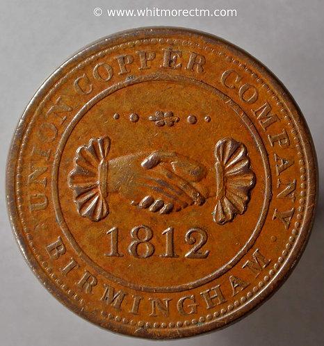 19th Century Penny Birmingham 313 1812 Union Copper Co - obv