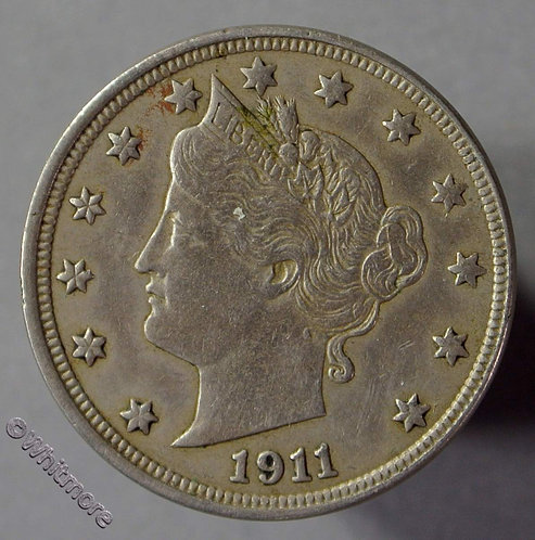 1911 USA Five Cents coin