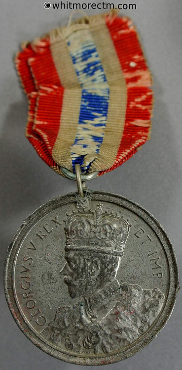 1919 Peace Medal 35mm B4146 George V Angel standing with dove By Spink