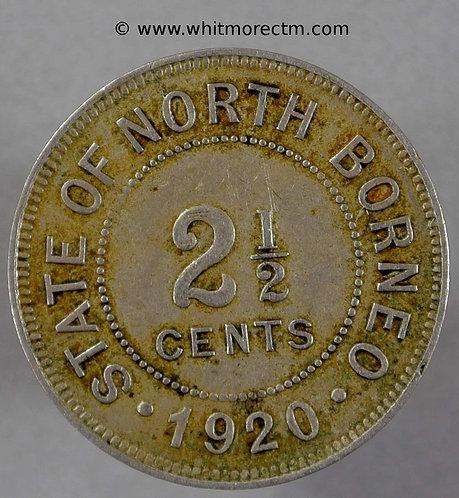 1920H British North Borneo Y4 2½ Cents coin