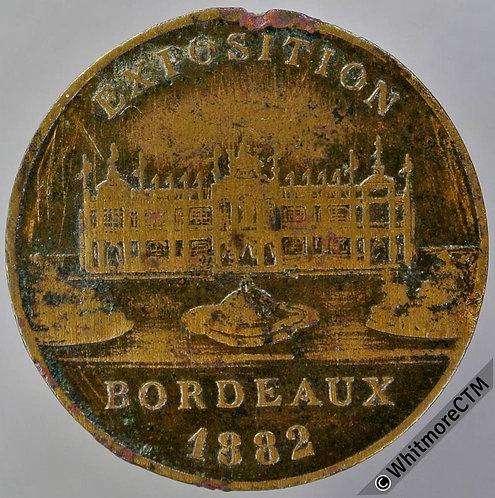 France 1882 Bordeaux Exposition Medal 29mm Brass