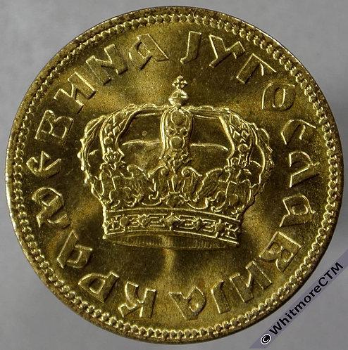 1938 Yugoslavia 2 Dinara - Large Crown - obv