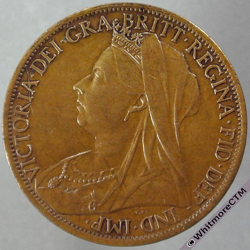1901 British Bronze Penny - Victoria