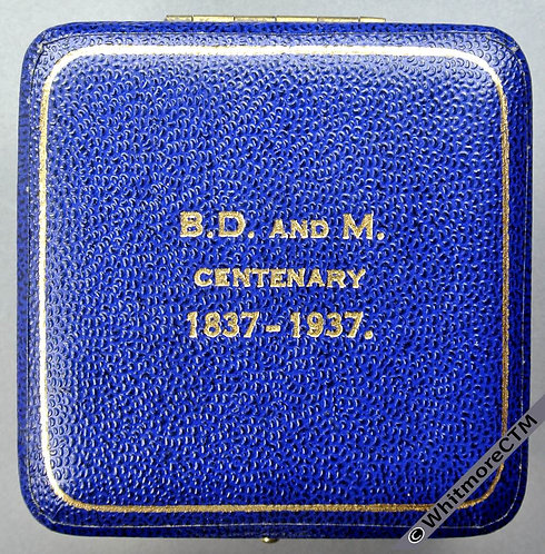 1937 Centenary of Births Deaths & Marriages Registration Medal 32mm B4386