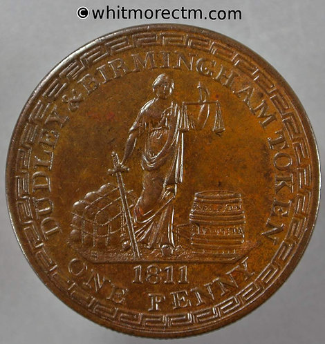19th Century Penny Dudley & Birmingham 729 1811 Richard Wallis - obv