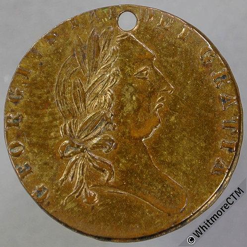 Imitation Half Guinea Birmingham N5920 1788 Charles Peverell Maker - Pierced