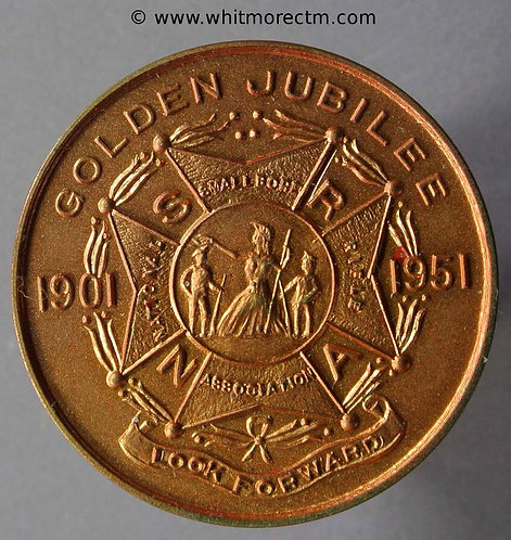 1951 Festival of Britain medal 32mm Golden Jubilee of Small Bore Rifle Ass