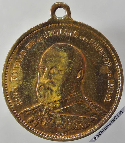 1901 Accession of Edward VII Medal 24mm WE4013 by Lauer. Brass with suspender.