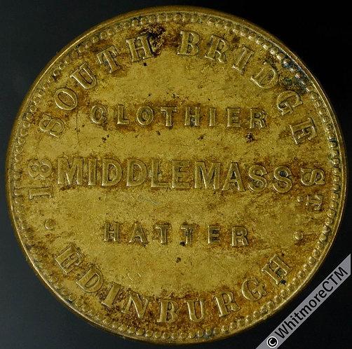 Unofficial Farthing Token Edinburgh 7209 (7200) Middlemass Outfitter. Gilt brass
