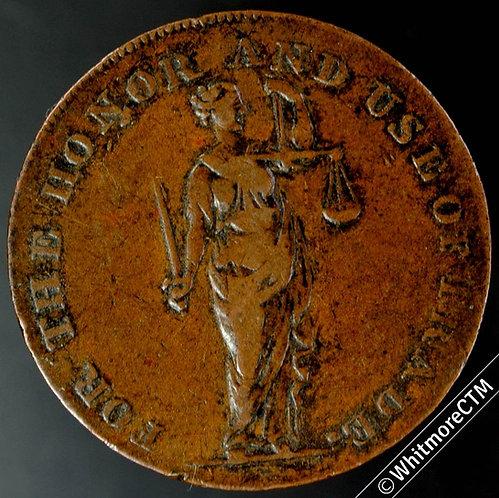 18th Century Halfpenny Dublin 308 1794 Fyans. Justice / Sugar loaf & bottle.