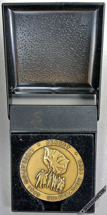 1995 Jersey 50th Anniversary of Liberation Medal Bronze. Cased