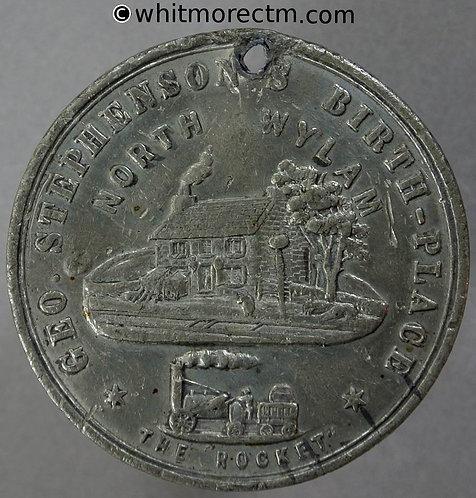 North Wylam (Newcastle on Tyne) 1881 George Stephenson Medal 38mm