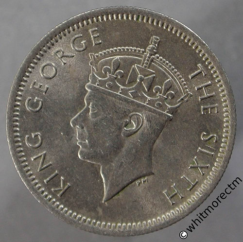 1950 Malaya 10 Cents obv