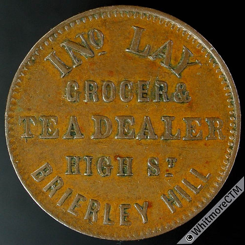 Unofficial Farthing Brierley Hill 1190 Ino Lay Grocer & Tea Dealer. High St.