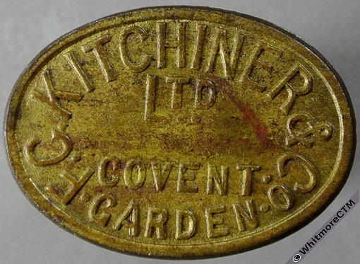 Market Token Covent Garden 31x23mm F. C. Kitchiner & Co Ltd. / 1s - Oval brass