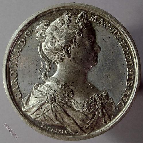 Caroline (Queen of George II) B1437-34 Bust R.  By Thomason after Dassier. W.M