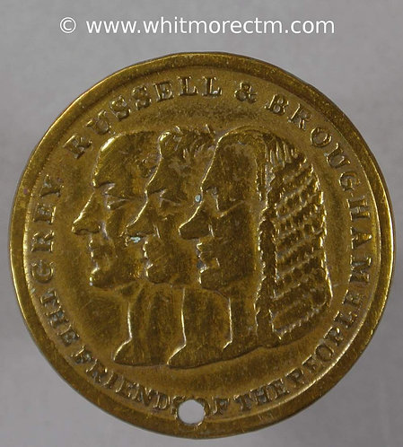 1832 Reform Bill Medallion Grey, Russell & Broughton 23mm as B1616 but June 4