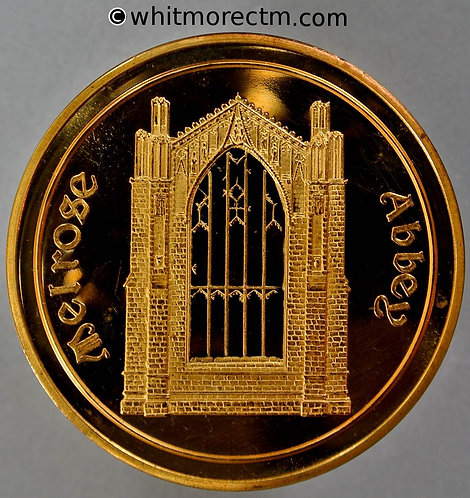 Melrose 1975 European Architectural Heritage Year Medal 44mm View of Abbey