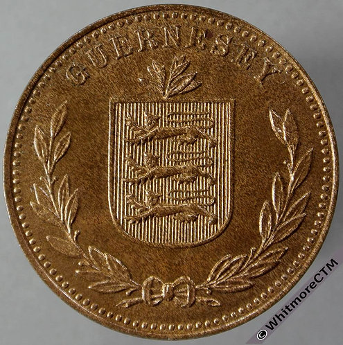 1949H Guernsey 8 Doubles obv E100 - 80% Luster