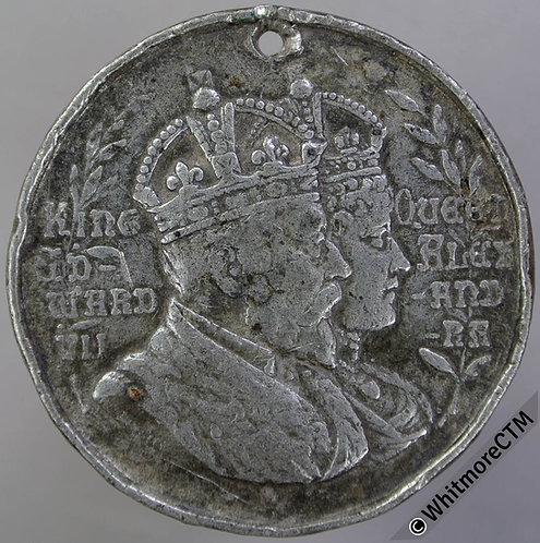 1902 Rowley Regis Coronation Medal 39mm WE4190F By W.J.Dingley. White metal