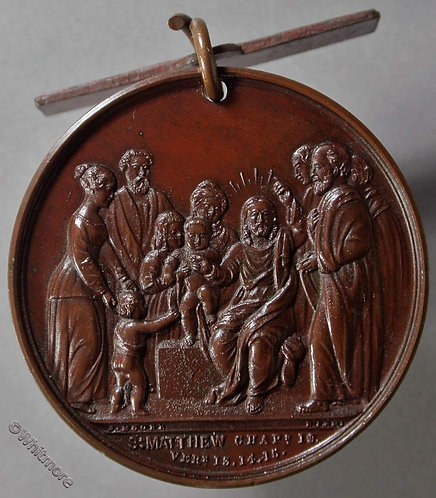 Westminster St Marys Schools Attendance Medal 38mm D2571 Bronze