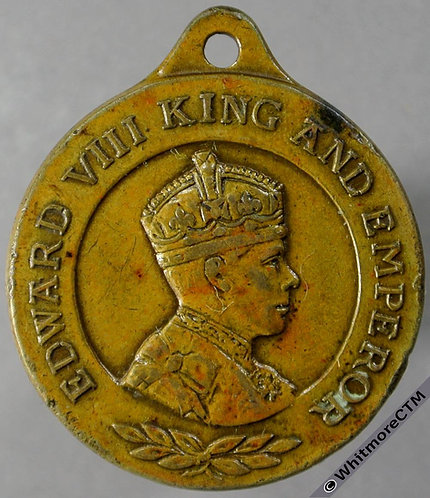 1937 Intended Coronation of Edward VIII obv Medal 26mm WE6824A1 Bronze + suspender