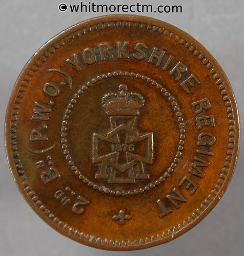 Forces Token 2nd Bn The Prince of Wales's OwnYorkshire Regiment 25mm 1876