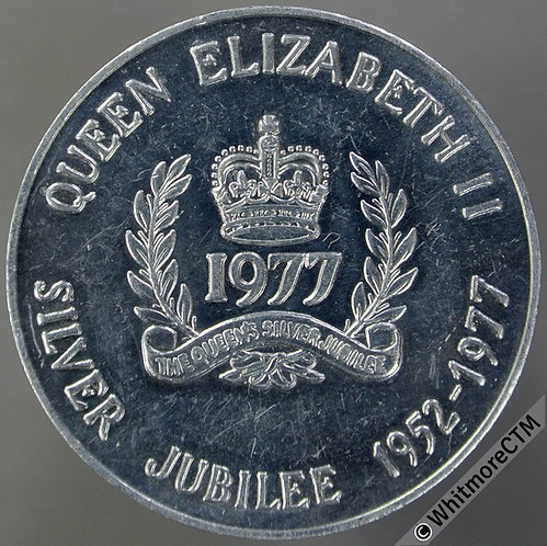 1977 Canada Ontario Queens Silver Jubilee medal 32mm Aluminium