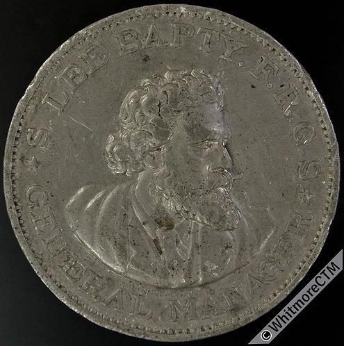 1890 Edinburgh International Exhibition Medal 42mm B3402 WM Very Rare