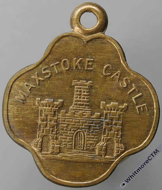 Maxstoke Castle (Warks) Ticket / Pass Token 26mm Quatrefoil-shaped brass