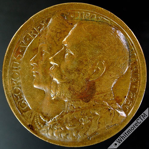 Colwyn Bay. George V 1911 Coronation Medal 35mm WE5120B By Gaunt - Bronze