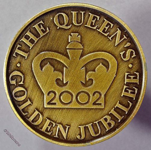 Portland Dorset 2002 Golden Jubilee Medallion 38mm Bronze.