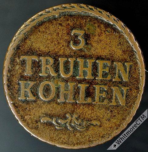 Austria 1727-44 3 Truhen Kohlen Token Muhlpach Hammerverks Neumann 29028 Copper