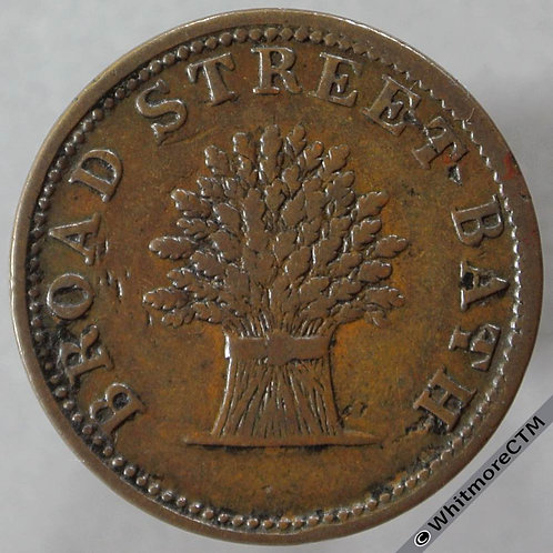 Unofficial Farthing Bath 180 The Wheat Sheaf obv - Very rare. Copper