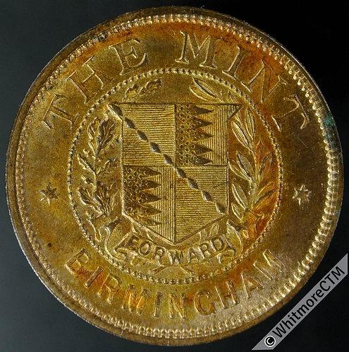 Mints Token Birmingham 25mm Ralph Heaton & Sons. City Arms. - Bronze