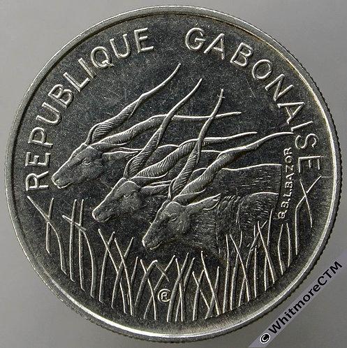 1971 Gabon (CFA franc) 100 Francs Y1