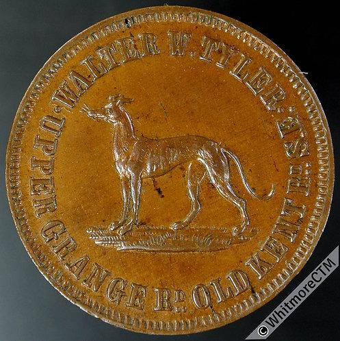 London Greyhound  Inn / Pub Token 29mm Walter W.Tyler H202 1½ Copper
