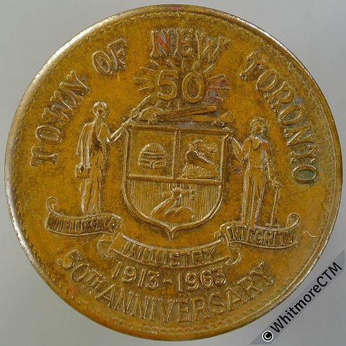 Canada 1963 50th Anniversary of New Toronto Medal 32mm Hydro Golden Jubilee
