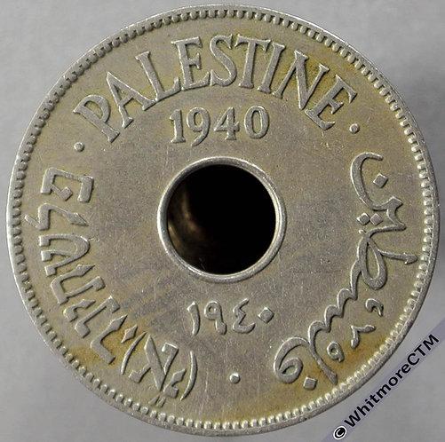 1940 Palestine 10 Mils