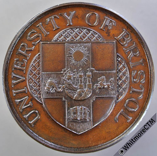 Bristol University 1922 Medal 44mm Bronze 100yd dash 1st prize for A H Evans