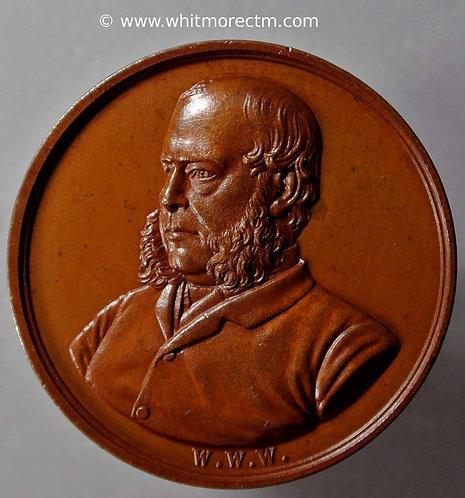 Denbigh 1876 Sir W.W.Wynn restored to health Medal 36mm B3031 Rare .Bronze