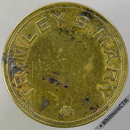 Value Stated Token Trimley St Mary Suffolk 26mm ½D in wreath