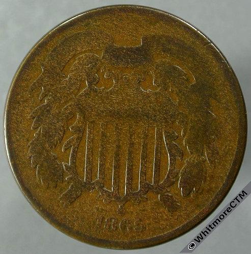 1865 USA 2 Cent obv