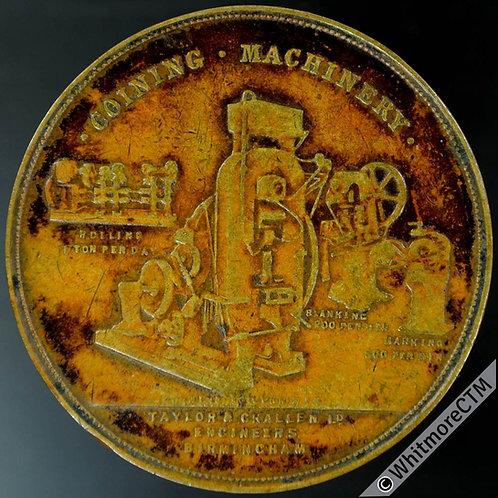 Mints Token Birmingham 38mm Taylor & Challen Engineers Plain edge Bronze